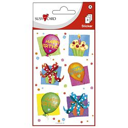Naljepnice ukrasne birthday party Herlitz 11259793 blister