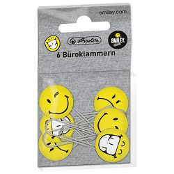 Spajalice ručne s 3D pk6 Smiley World Fancy Herlitz 11420080 blister