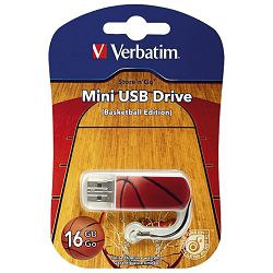 Memorija USB 16GB StorenGo mini Basketball Verbatim 98679 blister