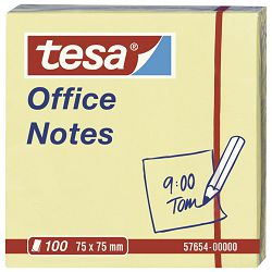 Blok samoljepljiv  75x75mm 100L Office notes Tesa 57654 žuti