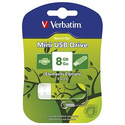 Memorija USB  8GB StorenGo mini Elements edition  Zemlja Verbatim 98160 blister