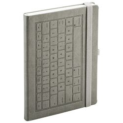 Notes A5 crte 96L 90g s gumicom tvrdi uvez Keyboard Mediaform KE128 sivi