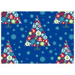 Papir ukrasni rola metaliziran 70x150cm Christmas magic Herlitz 40024172