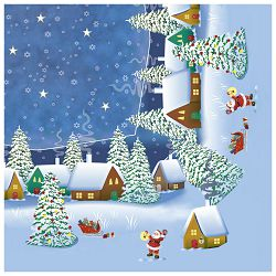Salvete troslojne 33x33cm pk20 Winter village Herlitz 11384666