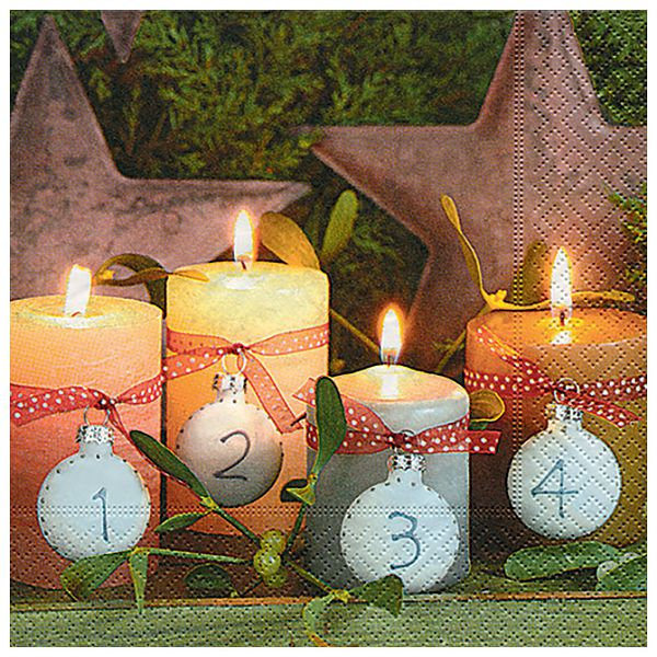 Salvete troslojne 33x33cm pk20 Fourth advent Herlitz 40030142