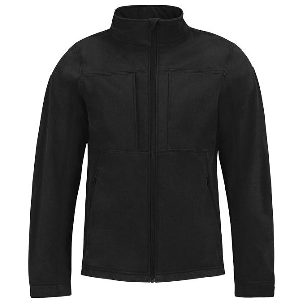 Jakna zip muška BC Hooded Softshell crna XL